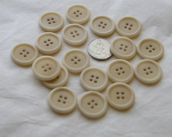 job lot set of 12 cream light dark brown buttons tiny small shirt buttons 12mm