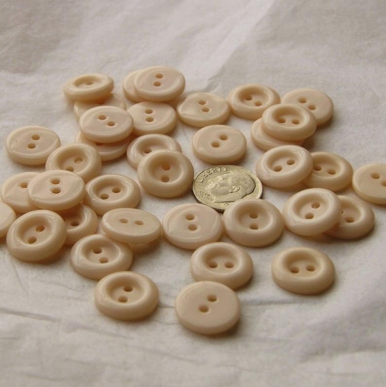 Tan Cream Buttons 35 Buttons AD 148 916  2 hole sew through Shirt Buttons