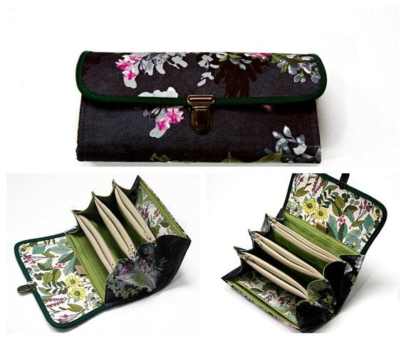 Mint floral wallet Dave Ramsey style budgeting Floral Clutch Cash Envelope System Wallet Dave Ramsey Wallet Envelope wallet