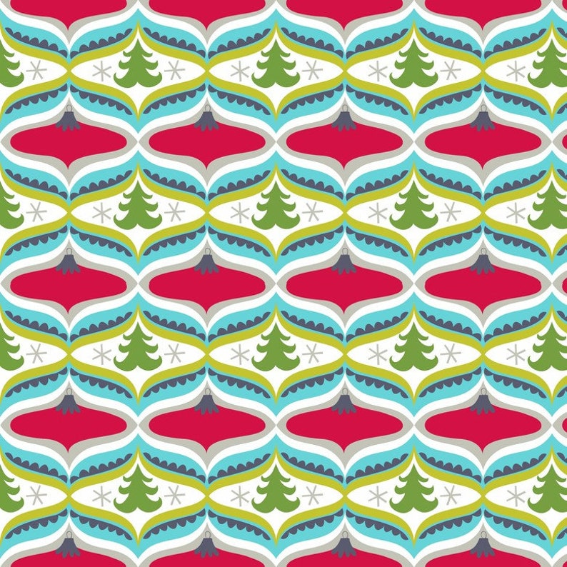 Treelicious  Garland in Red  1 yard  Blend Fabrics image 0