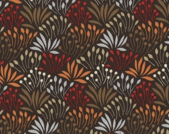 Leaves in Brown from Woodwinked Collection - 1 yard - by Dear Stella Fabrics.