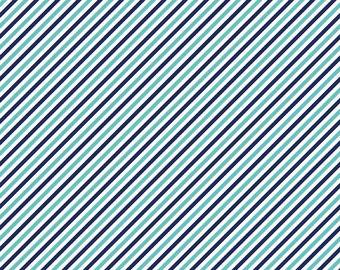 Pixie Stripe Navy - 1 yard - by Tasha Noel  for Riley Blake Designs.