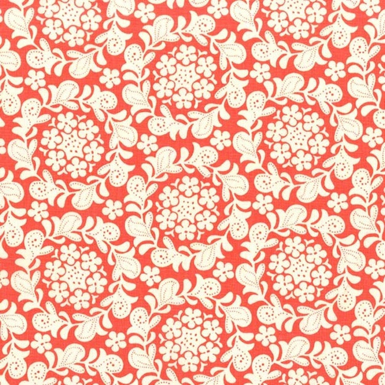 Strawberry Moon  Petit Henna Garden in Coral by Sandi image 0
