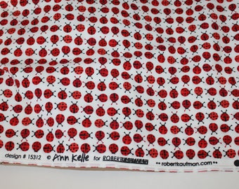 End of Bolt - 1 yard and 27 inches - Ann Kelle for Robert Kaufman - Urban Zoologie Minis - Ladybugs