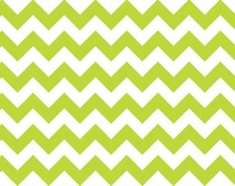 Small Chevron Lime  - 1 yard -  by Riley Blake Designs.