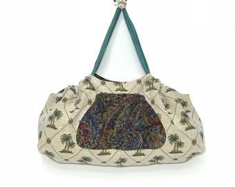 ddf4bd7b6abd Gym Bag Reversible Extra Large Yoga Mat Tote Bag Beach Bag YogaTote by  Rebecca Yarbrough OOAK