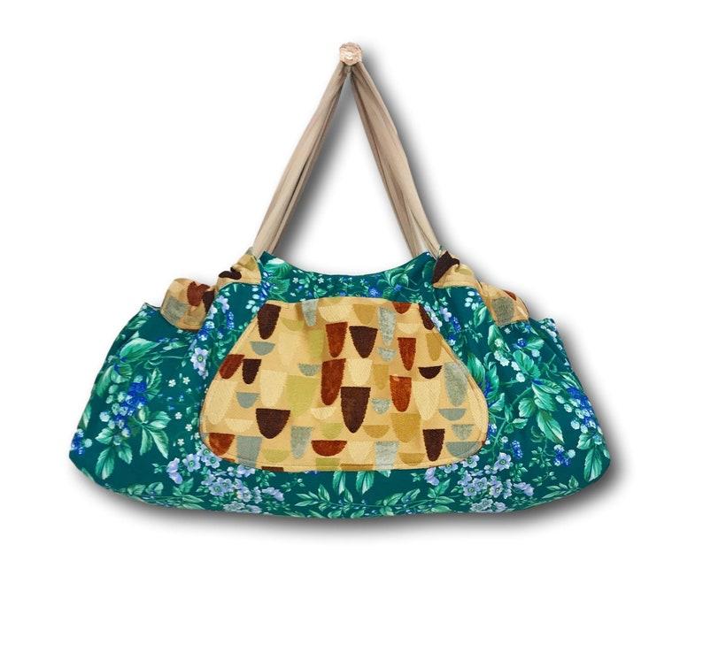 Yogatote Yoga Mat Tote Bag Gym Bag Extra Large Beach Bag Diaper Bag by Rebecca Yarbrough OOAK Tennis