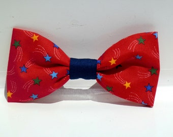 July 4th Dog Bow Tie,Dog Bow Tie, Dog Flower, Dog Bowtie, Cat Bow Tie, Cat Flower, Pet Bowtie, Pet Bow Tie, Dog Collar, Pet Collar