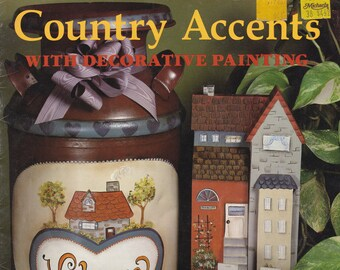 Folk Art Painting Project Patterns 'Country Accents' by Jenise Jackson, Tole Painting Projects, Decorative Painting Patterns, Folk Art Paint