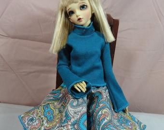 MSD BJD Sweater Turquoise 1