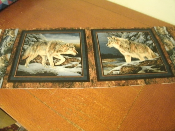 Wild Wings Narragansett Creek Pillow Panel Wolves In Winter Etsy
