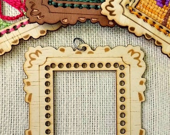 LARGE Mini Masterpiece Frame DIY Pendant *Maharukh wood*