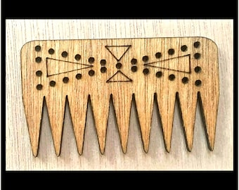 """Stitchable """"Bow Tie"""" Wooden Weaving Comb Beater DIY *Walnut/ Cherry/ Red Chestnut/ Jacobean Finish*"""