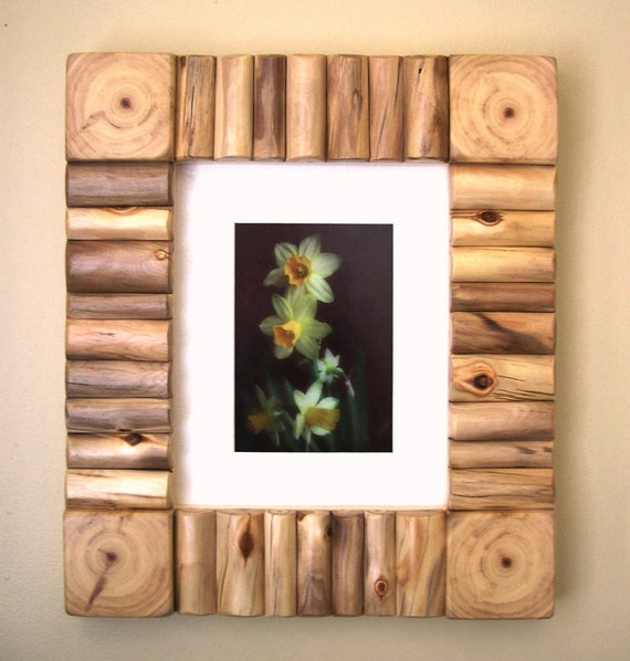 Rustic Wood Frame - Rustic Photo Frame - Rustic Picture Frame - Log ...