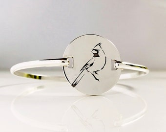 Cardinal Bracelet . In Memory Swingtop Bracelet  . Cardinal Red Bird Jewelry . Tatum Bradley