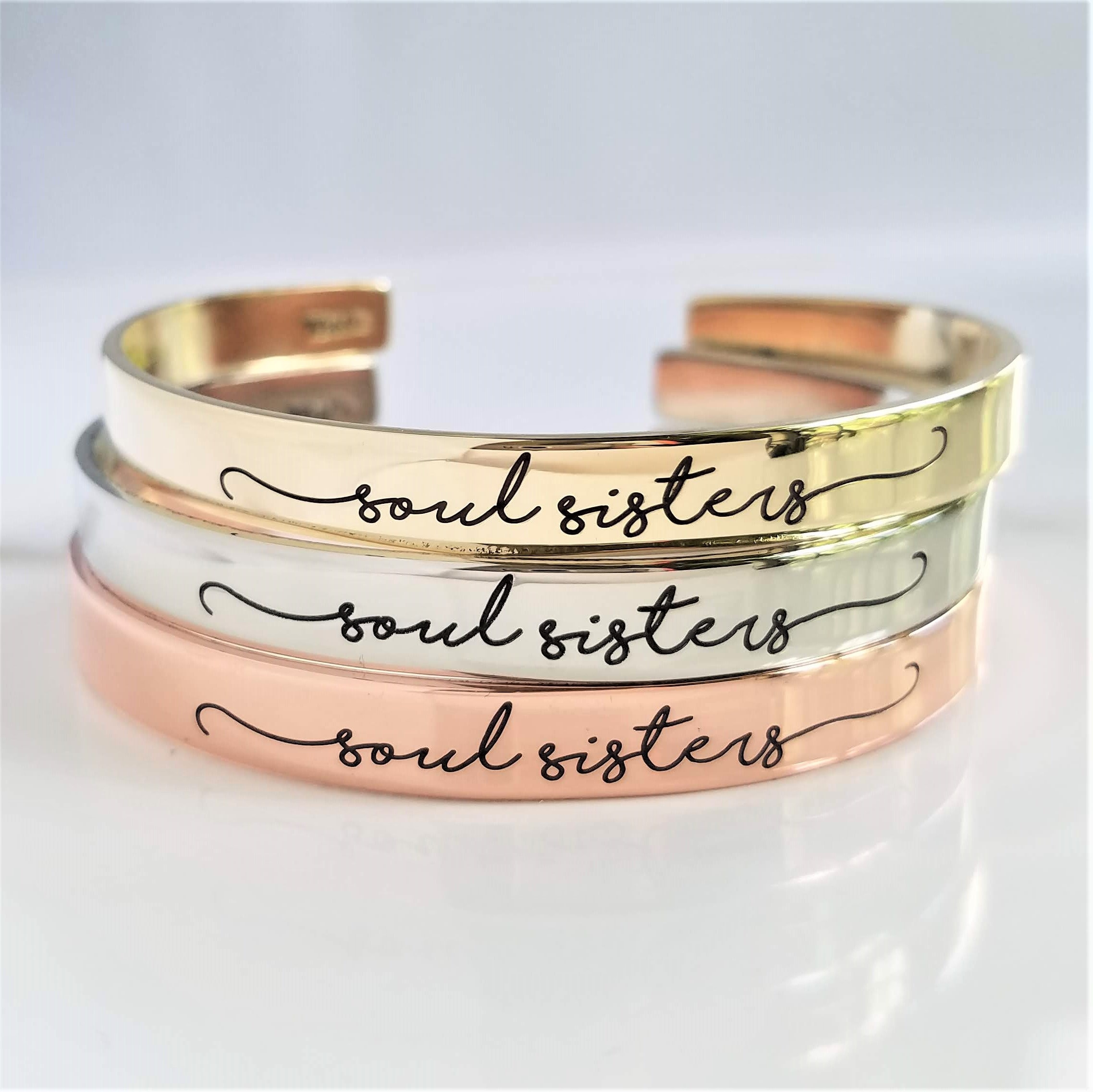 friend jewelry BUY 2 Personalized Bracelets personalized gift friend gift personalized jewelry Friends are sisters brass cuff