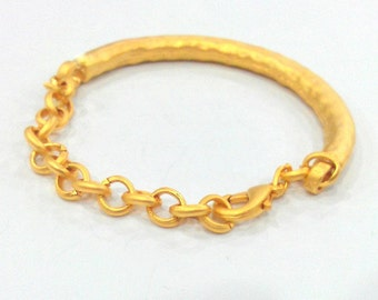 Gold Plated Bracelet Components Bangles Findings For Your Craft ,   G10803