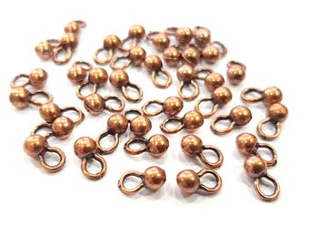 30 Copper Charm Antique Copper Charm Antique Copper Plated Metal ( 4,5 mm ) G11827