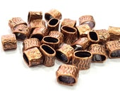 10 Tube Findings Antique Copper Plated Brass (8x5mm) G13269