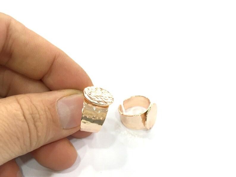 Brass ring blanks Qty = 15 size medium