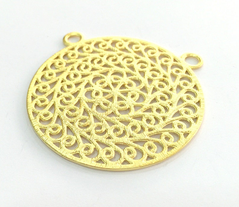 Gold Plated Pendant  52mm G3342