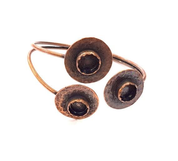 10mm Blanks Copper Bracelet Blanks  Cuff Blanks Adjustable Bracelet Blank Antique Copper Plated Brass G9271
