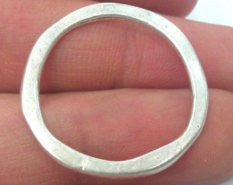 200 Silver Circle Connector (29 mm) Antique Silver Plated Round , Connector ,Pendant,Findings G10960