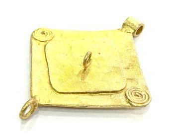 Raw Brass Pendant 50x39mm G5127