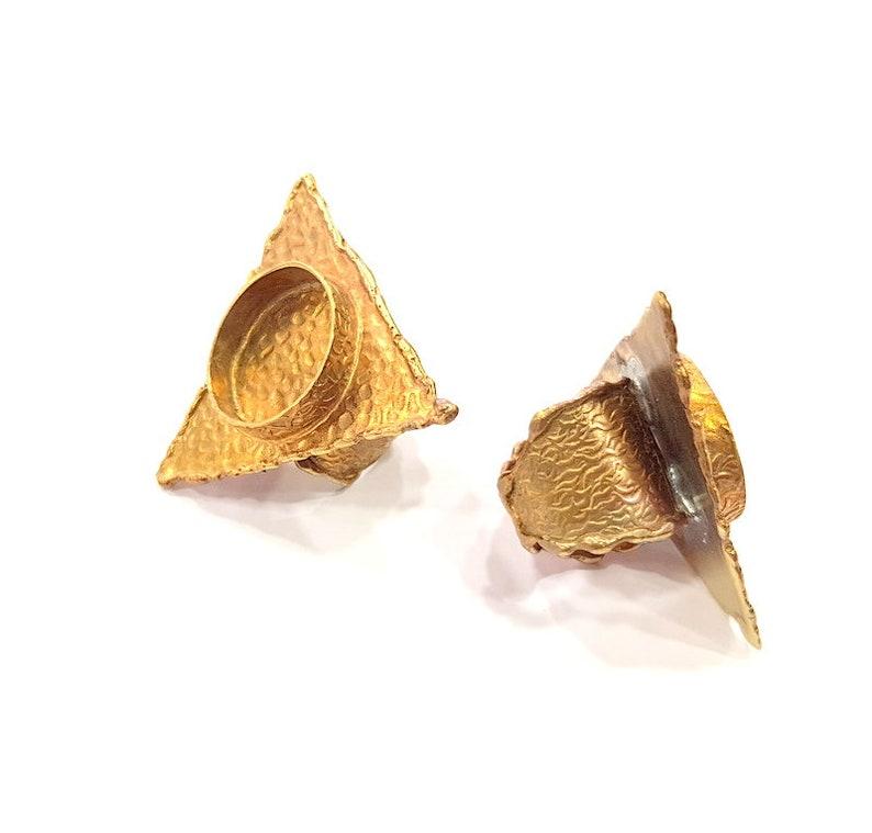 Raw Brass Ring Blank Bezel Settings Cabochon Base Mountings Adjustable Resin Blank G12980 20mm blank