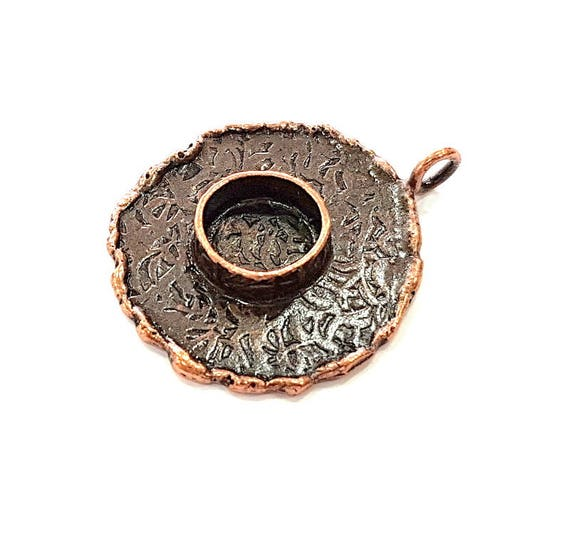 Antique Copper Pendant Blank Mosaic Base Blank inlay Necklace Blank Resin Blank Mountings Copper Plated Brass 20x20 mm blank G13208