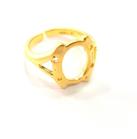 G6461 16 mm blank Rose Gold Ring Blank Base Bezel Settings Cabochon Base Mountings Adjustable