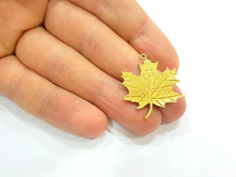 Raw Brass Maple Leaf Charms 28x26mm G7335