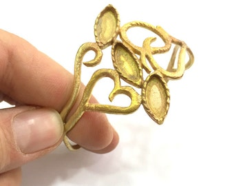 Raw Brass Adjustable Bracelet Findings G3305