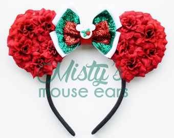 Limited!!! Mickey's Very Merry Christmas Rose Mouse Ears