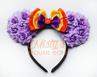 Limited Mickey's Not So Scary Halloween Party Minnie Pumpkin Rose Mouse Ears