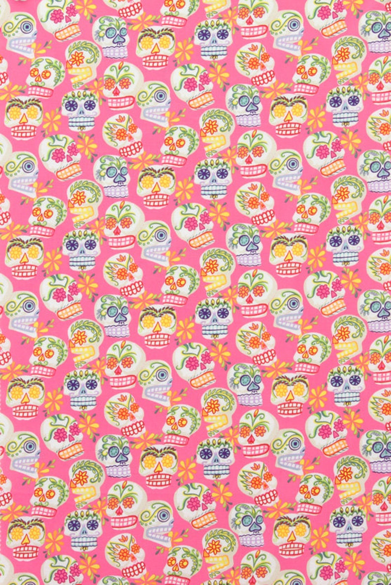 Alexander Henry  Folklorico  Mini Calaveras  Pink image 0