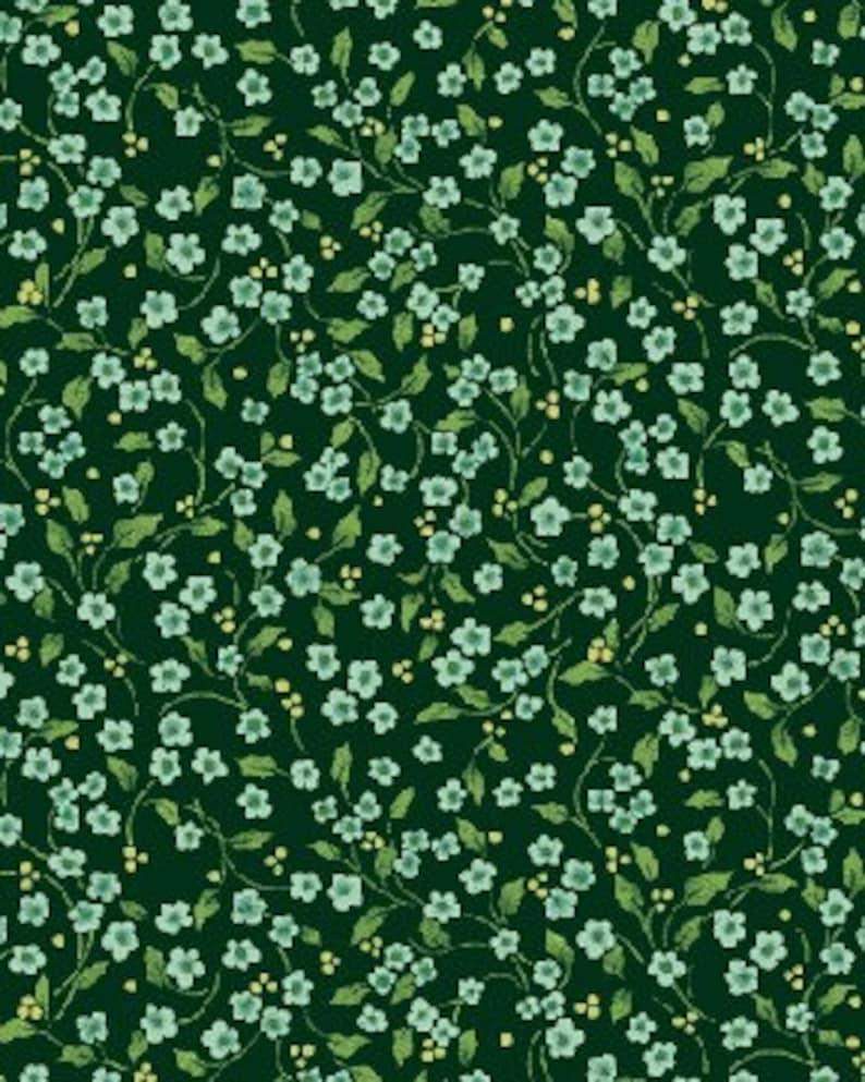 Benartex  2575-44  Once Upon a Christmas Mini Floral Vine  image 0