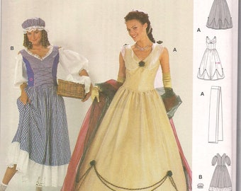 Burda Pattern 2479 Ladies Historical Costume Empress + Washerwoman Pattern FREE SHIP in North America