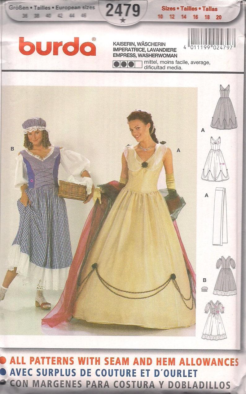 Burda Pattern 2479 Ladies Historical Costume Empress  image 0
