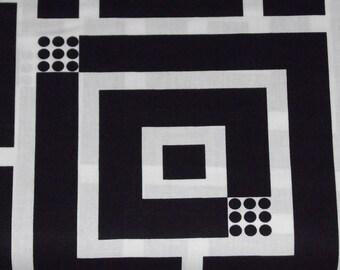 Benartex Kanvas - Op Art Reflections -Squared Black