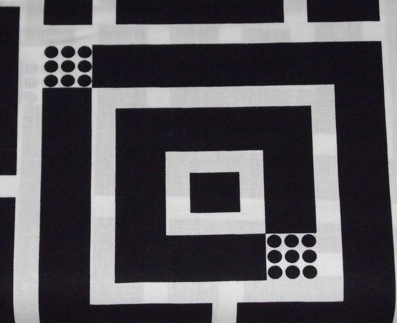 Benartex Kanvas  Op Art Reflections Squared Black image 0