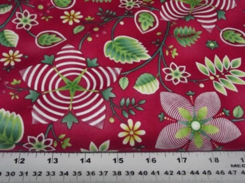Benartex 4013 Winterscapes Red Floral image 0