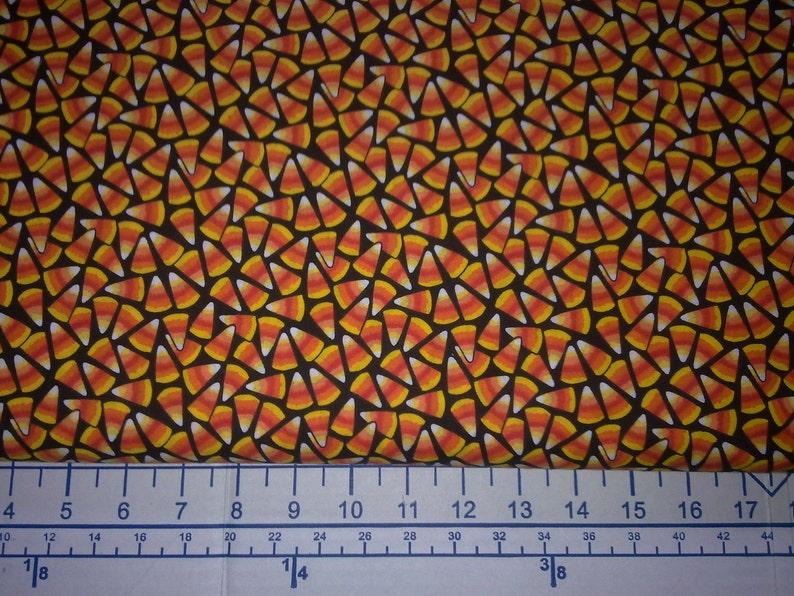 Candy Corn Cotton Print Fabric image 0