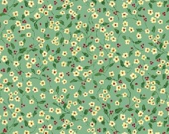 Benartex - Once Upon a Christmas- 2575-55 Mini Floral Vine - Lt. Blue