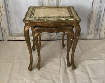 Nesting Tables,Italian Florentine Nesting Tables,stacking Tables,antique Nesting  Tables,gold Tables,hollywood Regency Tables
