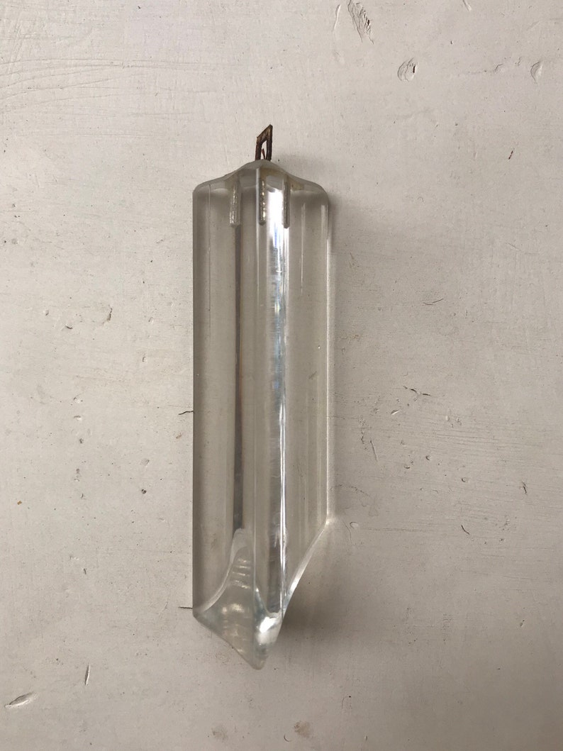 Glass crystal for chandelier,vintage crystal prism,crystal finding,chandelier parts,chandalier crystals,vintage crystals