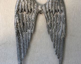 Angel Wings,metal Angel Wings,vintage Distressed Patinas,feathered Wings, Wings