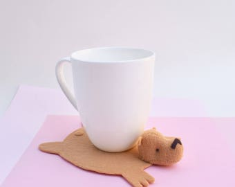 Bear Coaster (one) by Dandyrions / Home Decor/ Table Setting accessory