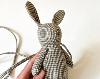 Usagi Purse (Green Plaid) by Dandyrions / Women's Purses / Handbags/ Rabbit Purse