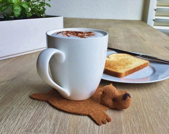 Bear Coaster (one) by Dandyrions / Home accessory / Home Decor